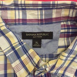 Banana Republic Shirts - Modern Banana Republic Plaid Button-Up Shirt.